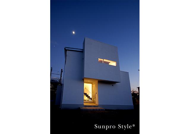 黒白の四角い家