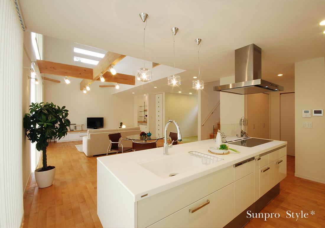 キッチンに住む家