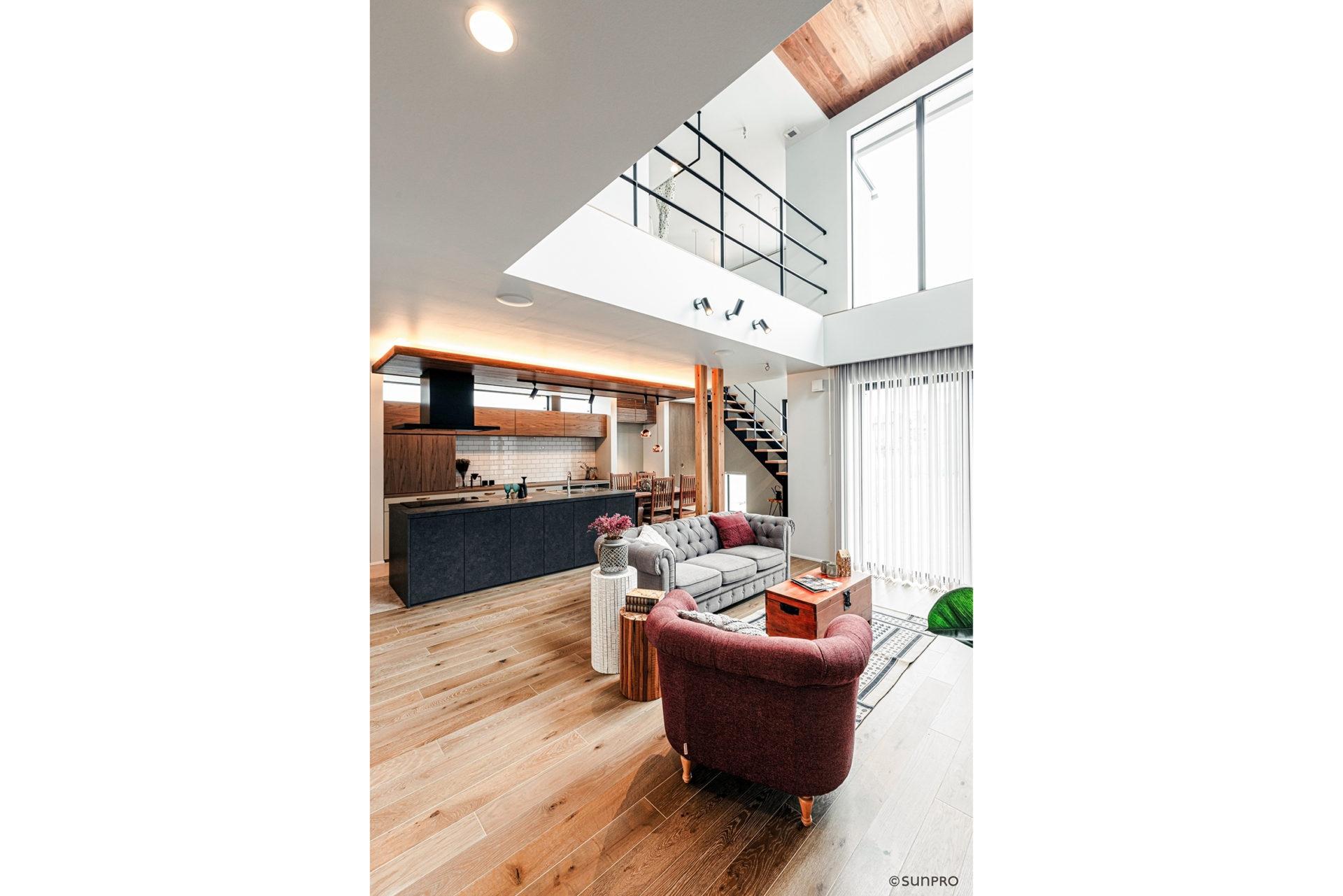 「好き」を極めた大空間リビングの家